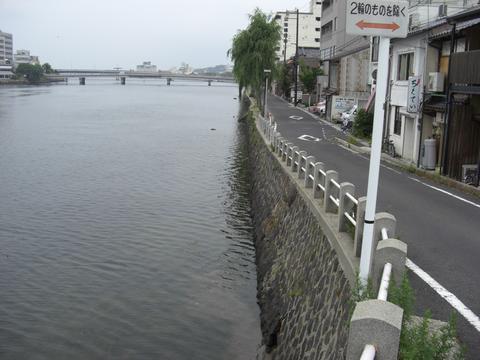 大橋川(東本町3丁目)