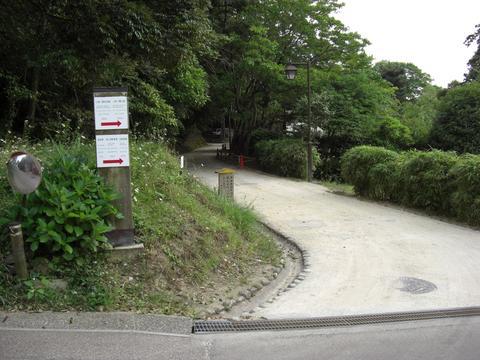 椿谷へ(城山)