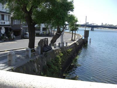 大橋川南詰より籠の端を望む