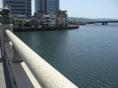 松江大橋より籠の端を望む